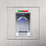 In Verbindung eines Motorschlosses wird die Türe vollautomatisch durch den gespeicherten Fingerabdruck entriegelt