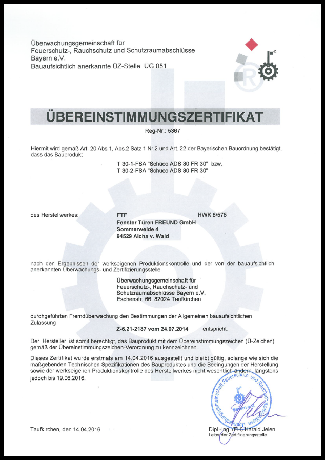 Zertifikat T 30 2014