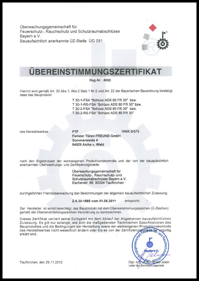 Zertifikat T 30