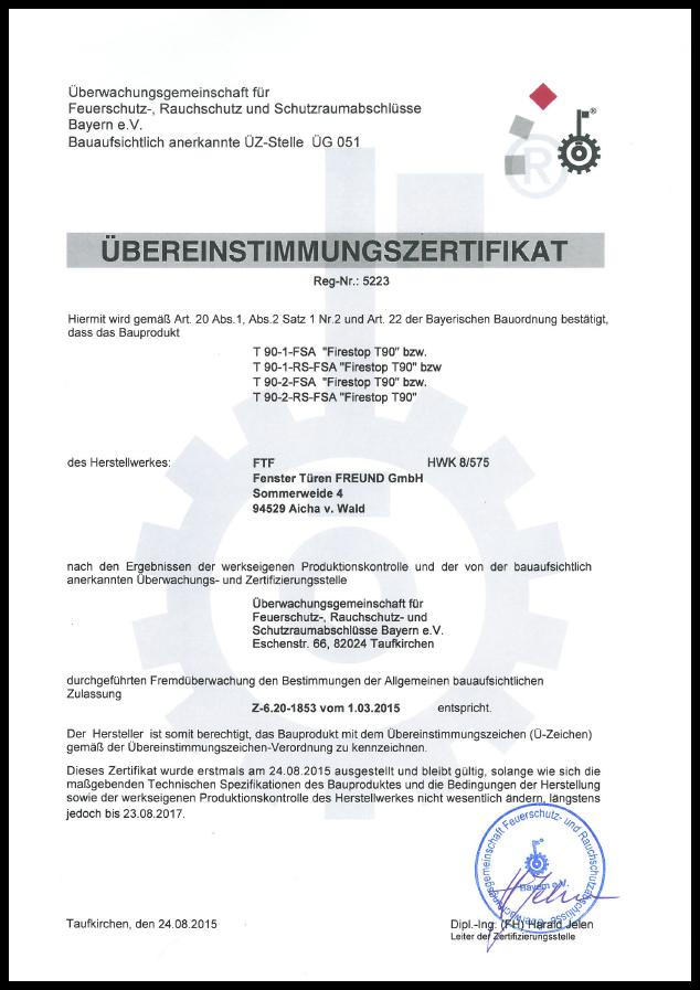 Zertifikat T 90