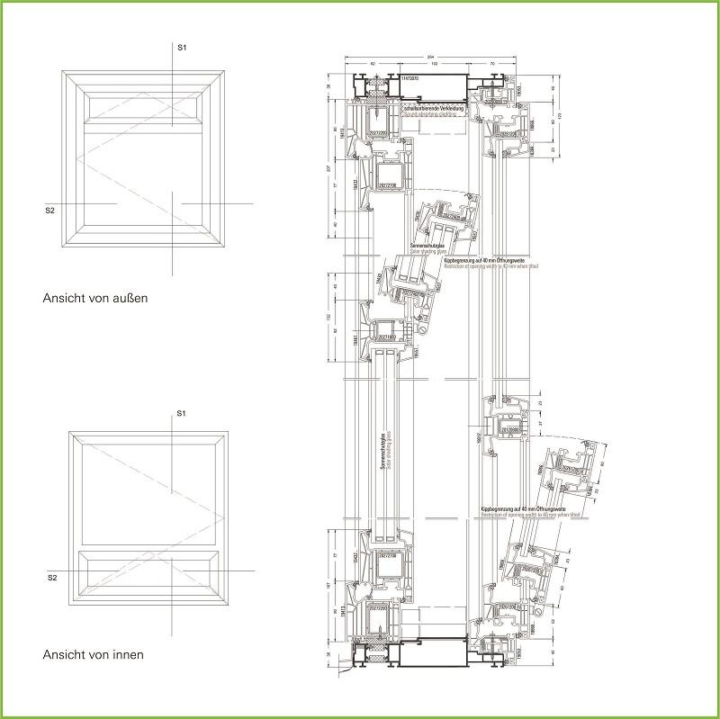 Systemschnitt vertikal