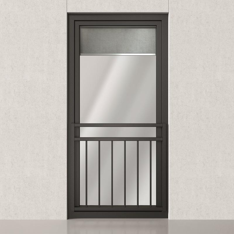 Balkontüre mit vertikaler Absturzsicherung mit zusätzlichem Handlauf