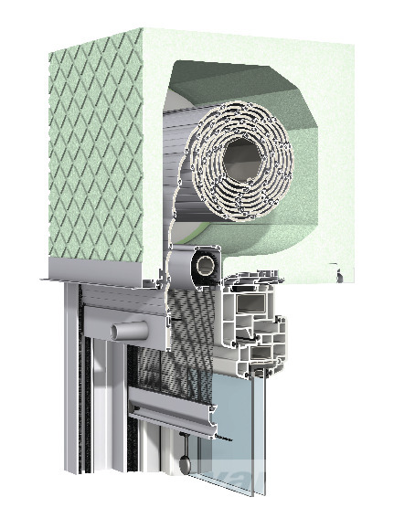 Aufsetz-Rollladen Revision außen mit integriertem Insektenschutz