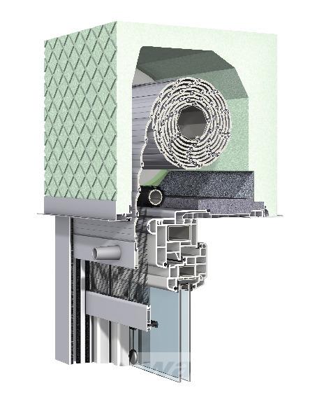 Aufsetz-Rollladen Revision innen mit integriertem Insektenschutz
